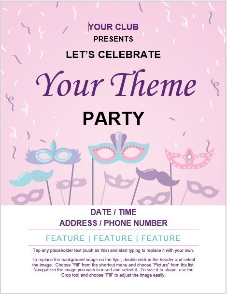 Party Invitation Flyer Template 01