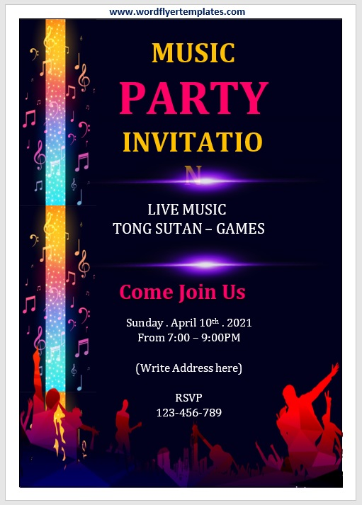Party Invitation Flyer Template 02