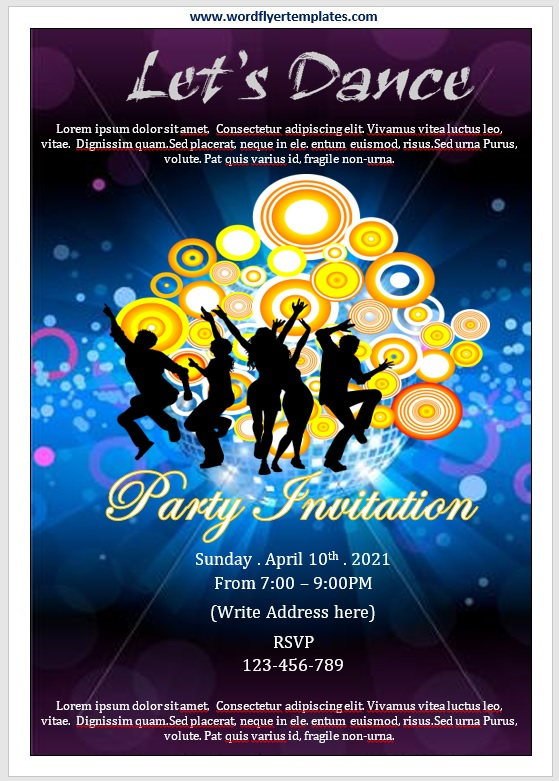 Party Invitation Flyer Template 03