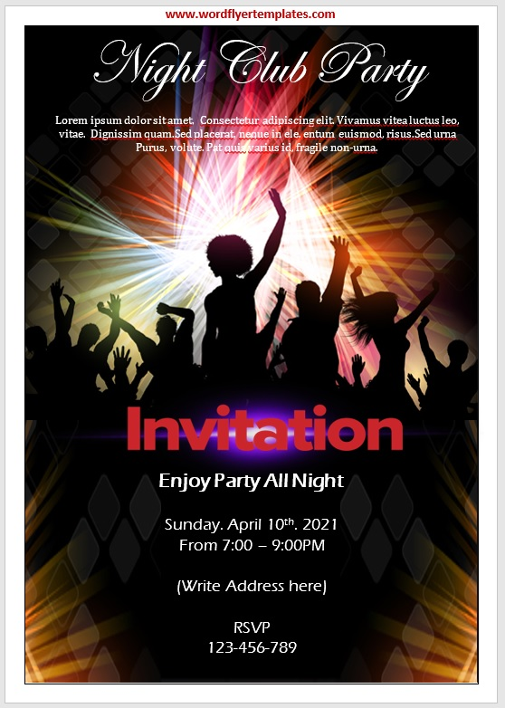 Party Invitation Flyer Template 04