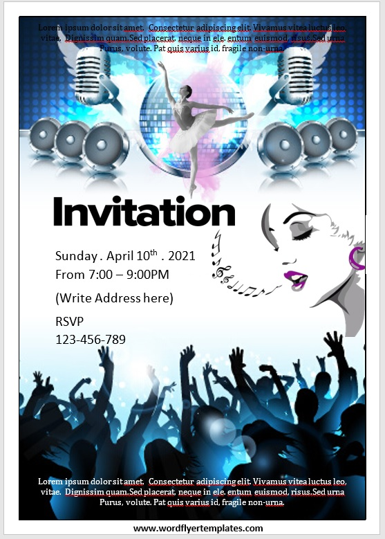 Party Invitation Flyer Template 06