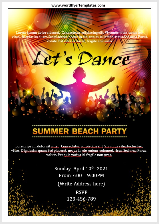Party Invitation Flyer Template 07