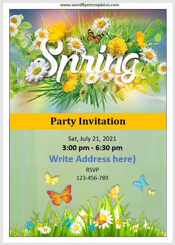 Party Invitation Flyer Template 09