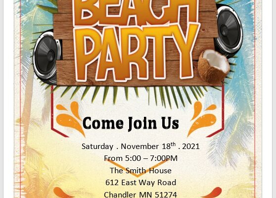 Party Invitation Flyer Template 10