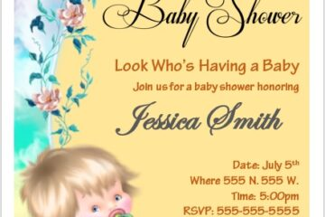 Baby Shower Flyer Template 06