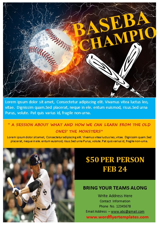 Baseball Flyer Template 02