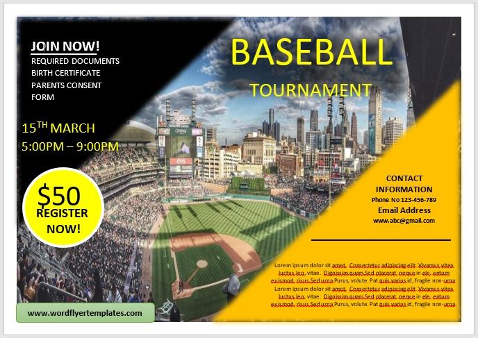 Baseball Flyer Template 04