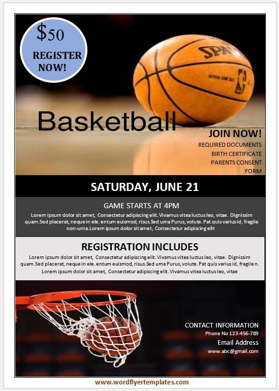 Basketball Flyer Template 02