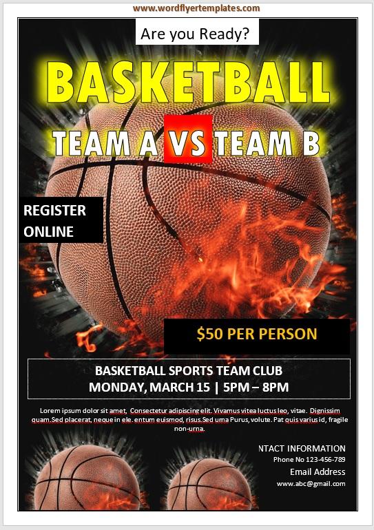Basketball Flyer Template 03