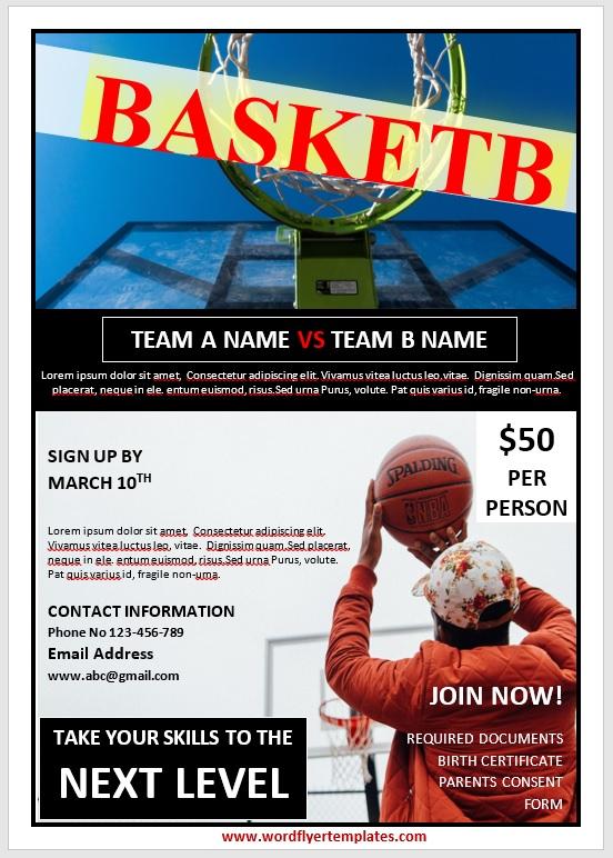 Basketball Flyer Template 04