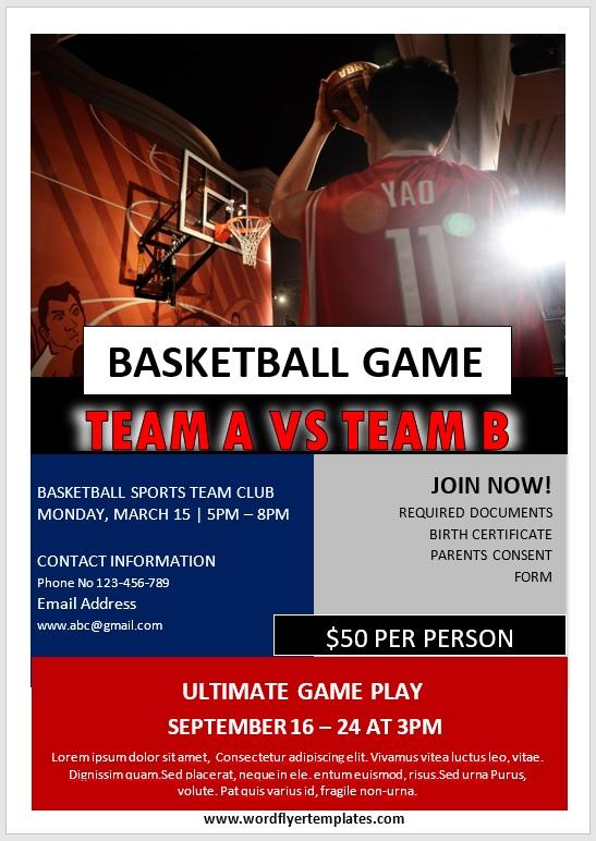 Basketball Flyer Template 09