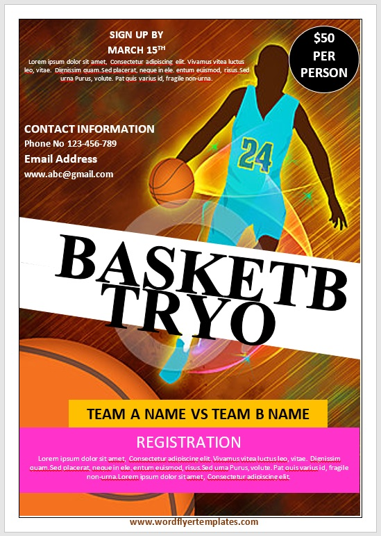 Basketball Flyer Template 10