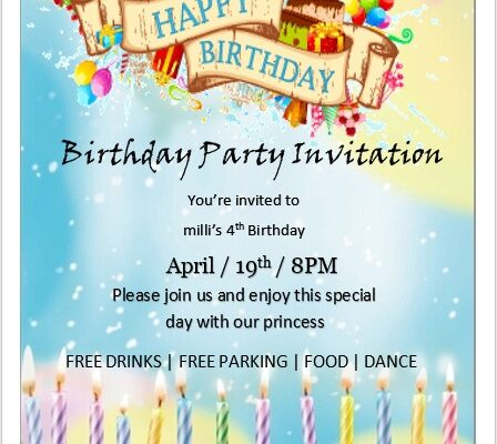 Birthday Party Invitation Flyer Template 07