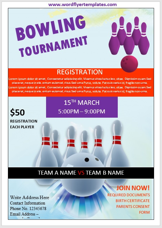 Bowling Flyer Template 06