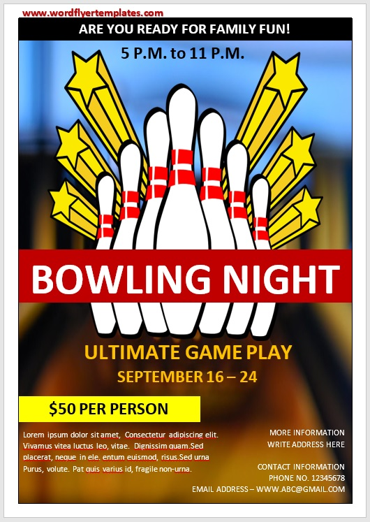 Bowling Flyer Template 07