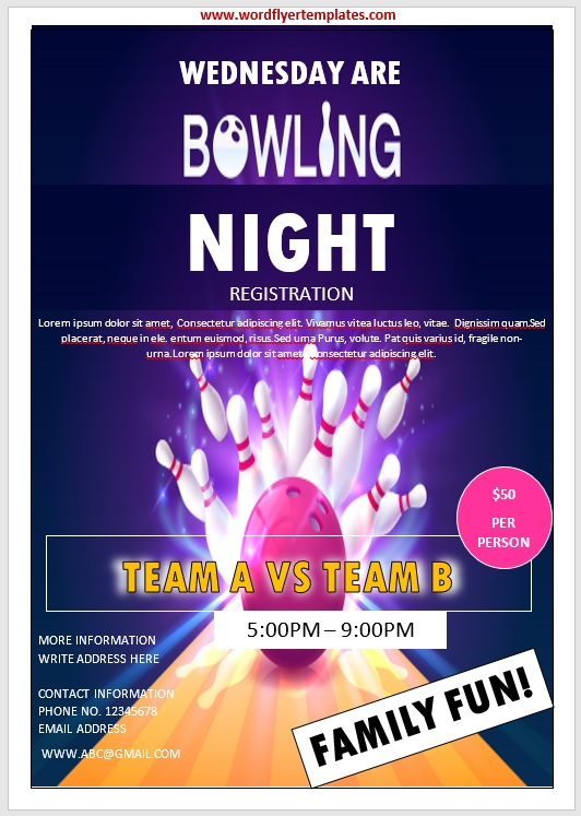 Bowling Flyer Template 08