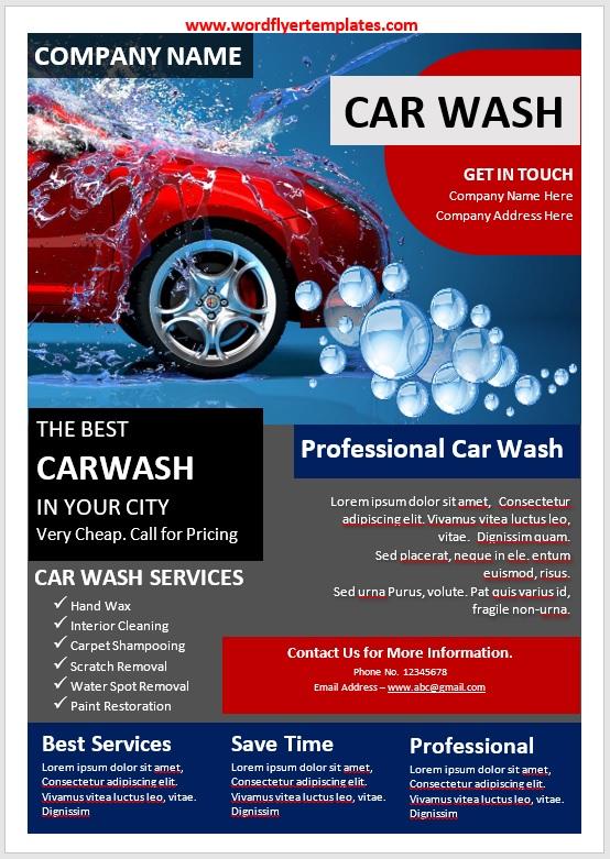 Car Wash Flyer Template 01