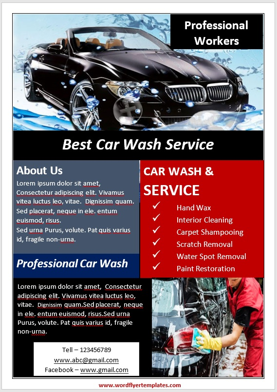Car Wash Flyer Template 04