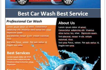 Car Wash Flyer Template 05
