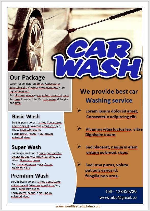 Car Wash Flyer Template 07
