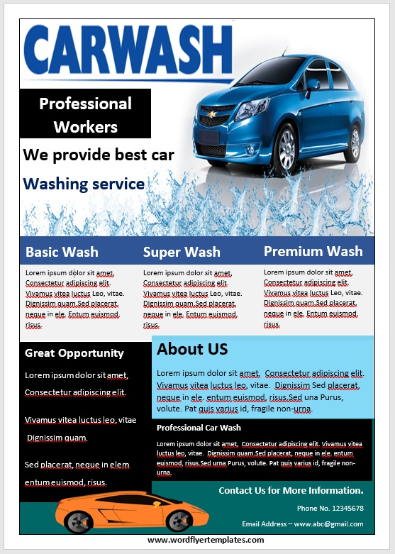 Car Wash Flyer Template 09