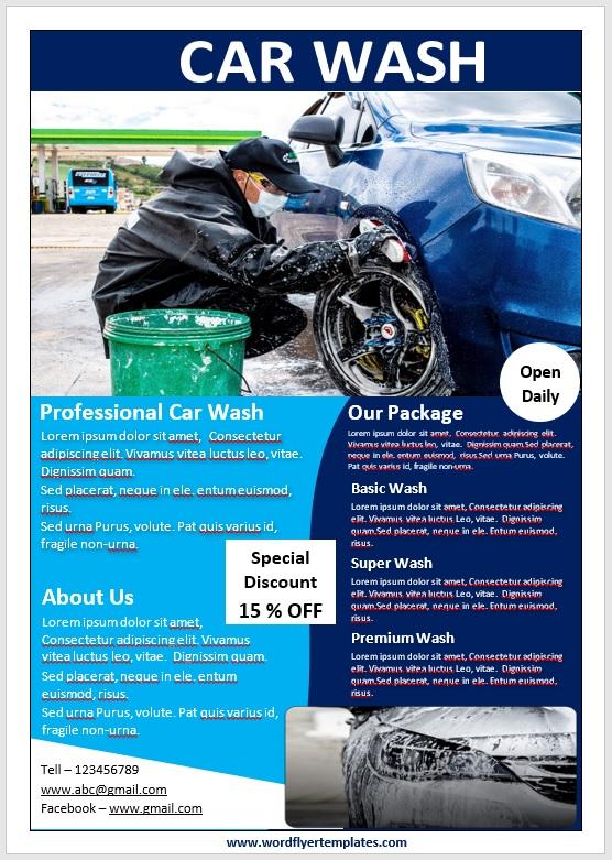 Car Wash Flyer Template 10