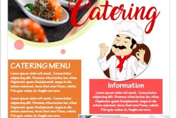 Catering Business Flyer Template 06