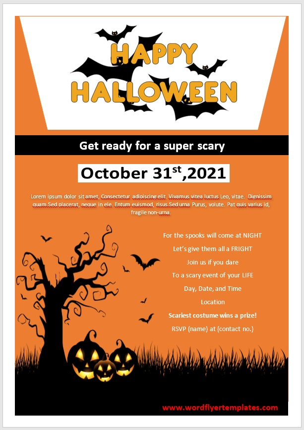 Halloween Party Flyer Template 01