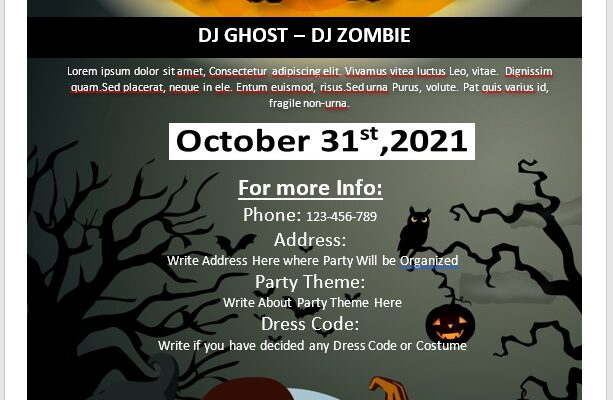 Halloween Party Flyer Template 03