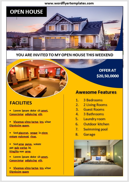 Open House Flyer Template 01
