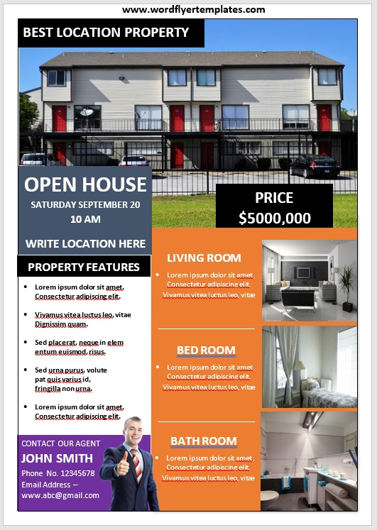 Open House Flyer Template 02