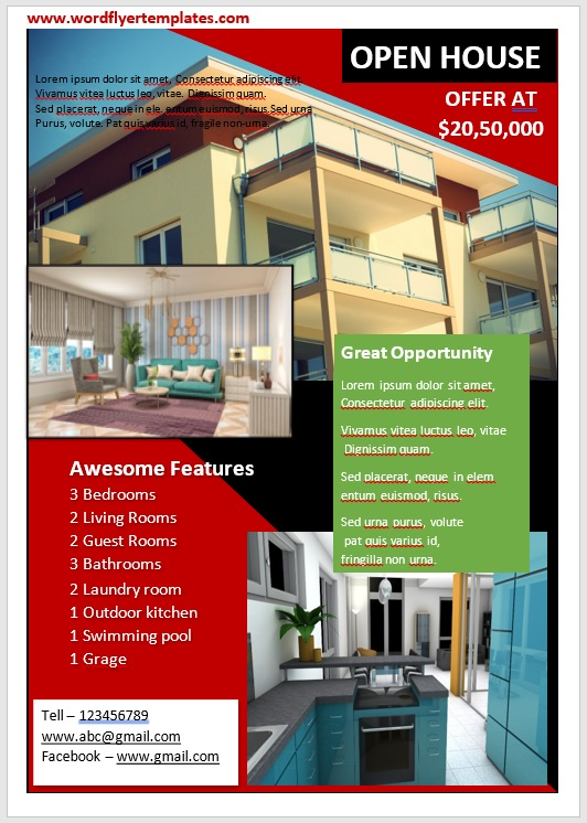 Open House Flyer Template 04