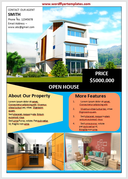 Open House Flyer Template 05