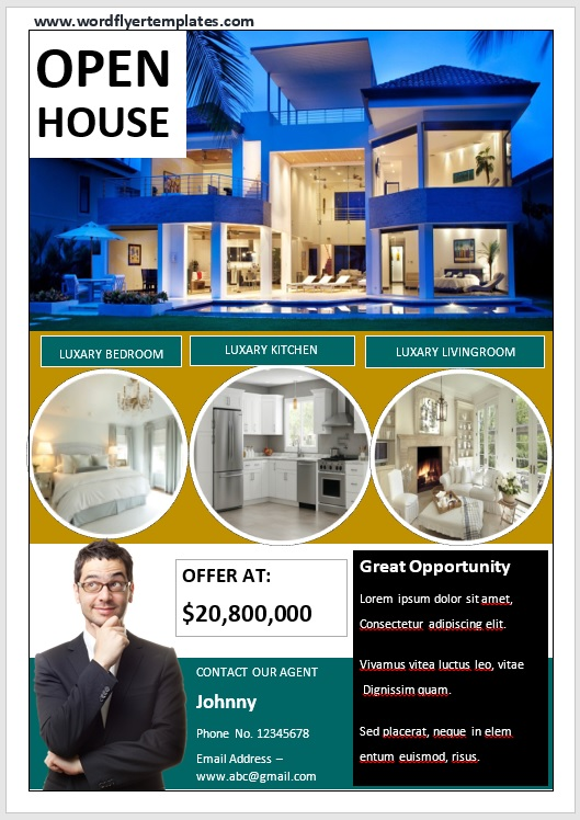 Open House Flyer Template 06