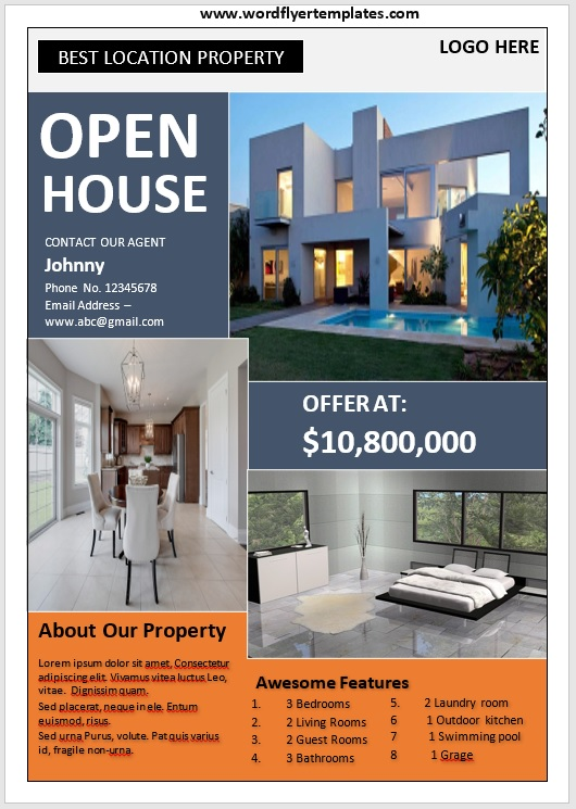 Open House Flyer Template 07
