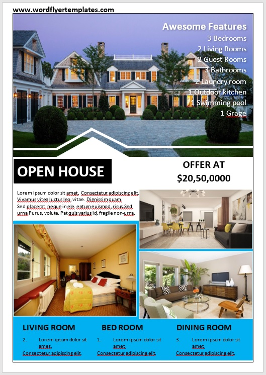 Open House Flyer Template 08