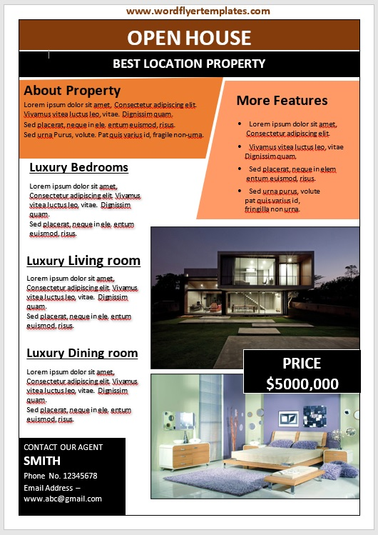 Open House Flyer Template 10