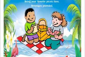 Picnic Party Invitation Flyer Template 04